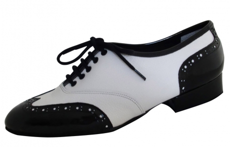 dance and shoes metz chaussure personnalisable boogie cuir granité blanc