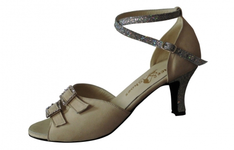 dance and shoes metz chaussure personnalisable Meina-daim creme