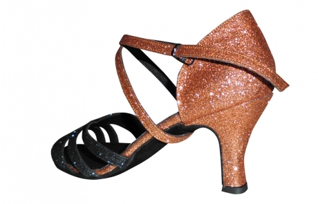 dance and shoes metz chaussure personnalisable Mila-brun-rouille