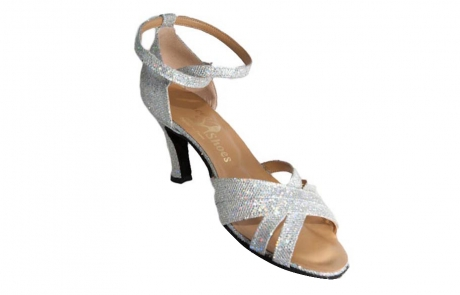 dance and shoes metz chaussure personnalisable Mila flash argent