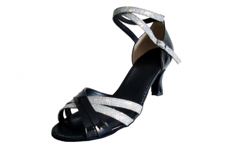 dance and shoes metz chaussure personnalisable -Mila vernis noir flash