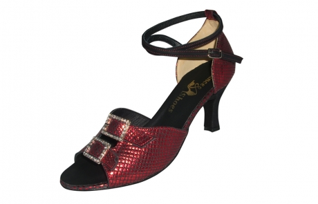 dance and shoes metz chaussure personnalisable Melina rouge brillant